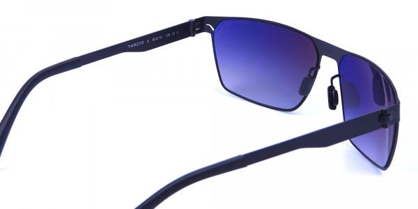 Sleek Bold Black Rectangular Sunglasses -4