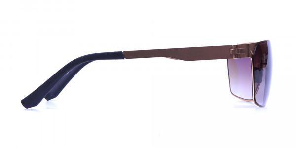 Gold Framed Rectangular Shaped Sunglasses -3