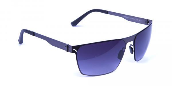 Smoky Gunmetal Rectangular Sunglasses -1