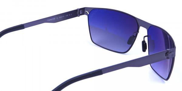 Smoky Gunmetal Rectangular Sunglasses -4
