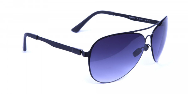 Bold Black & Grey Sunglasses -1