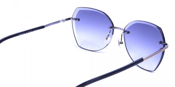 Brown Rimless Sunglasses in Wayfarer and Aviator