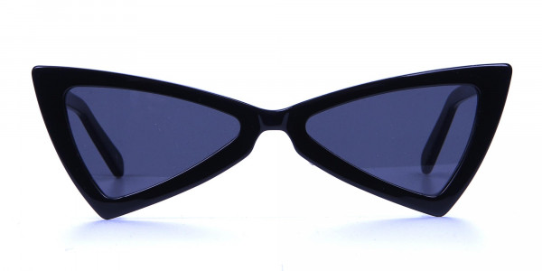 Black Triangle Cat-Eye Sunglasses