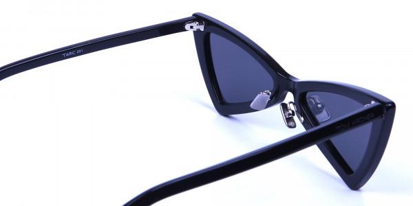 Black Triangle Cat-Eye Sunglasses  - 5