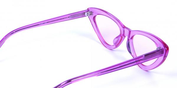 Designer Translucent Pink Glasses - 3