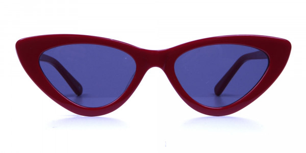 Small Frame Red Cat-Eye Sunglasses