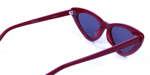 Small Frame Red Cat-Eye Sunglasses  -4