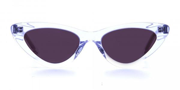 Clear Frame Cat Eye Sunglasses