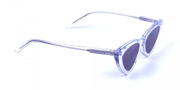 Clear Frame Cat Eye Sunglasses - 1