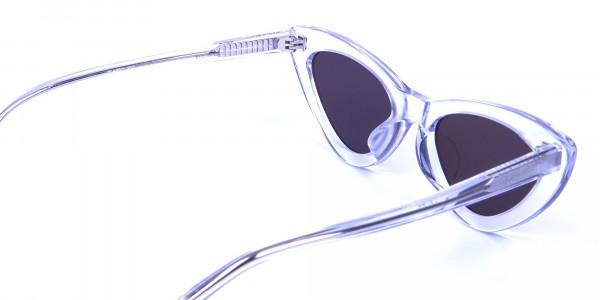 Clear Frame Cat Eye Sunglasses  - 4