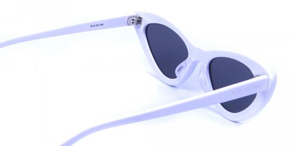 white round cat-eye sunglasses - 4