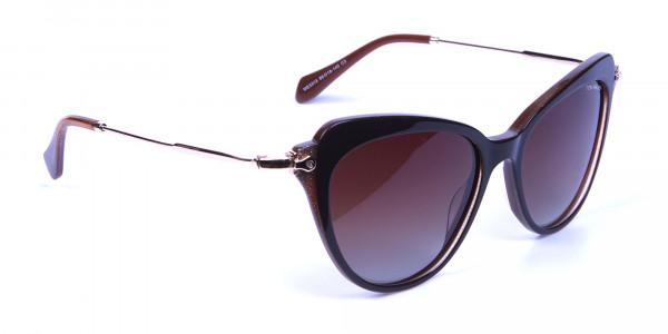 Jewelled Brown Cat Eye Sunglasses -1
