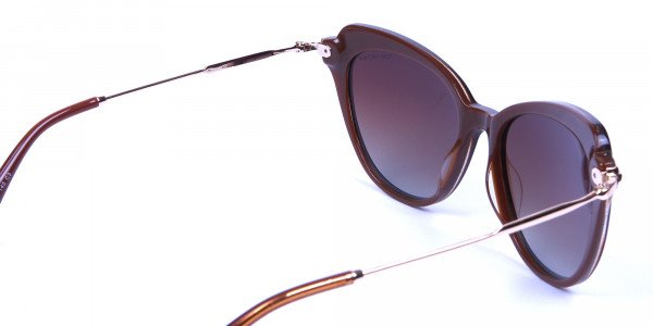 Jewelled Brown Cat Eye Sunglasses -4