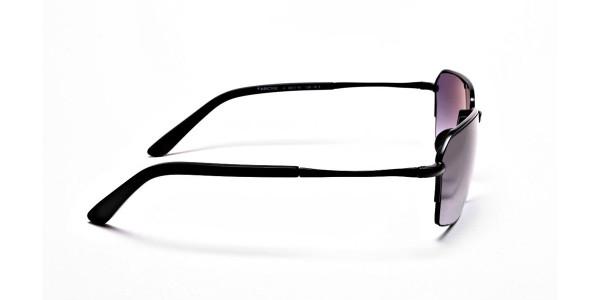 Black Half Rimmed Sunglasses - 3