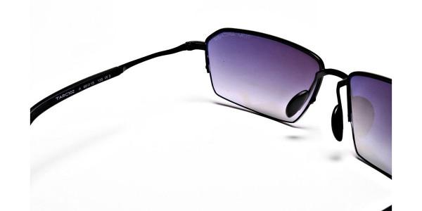 Black Half Rimmed Sunglasses - 4