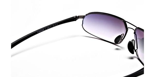 Wide Fit Sunglasses in Gunmetal - 4