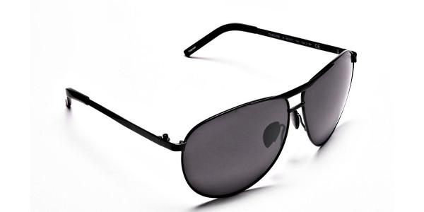 Luxurious Aviator Sunglasses in Black - 1