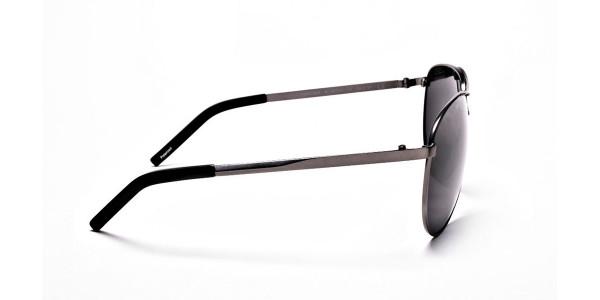 Gunmetal Aviator Sunglasses - 3
