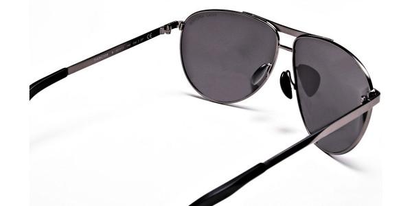 Gunmetal Aviator Sunglasses - 4