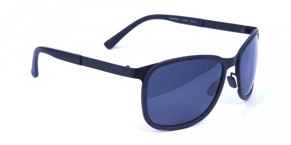 Subtle Black Square Sunglasses -1