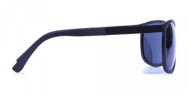 Subtle Black Square Sunglasses -3