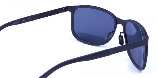 Subtle Black Square Sunglasses -4