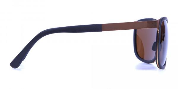Black & Gold elegant sunglasses -3