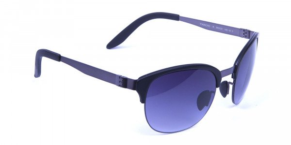 Gunmetal Sunglasses with Cool Tint - 1
