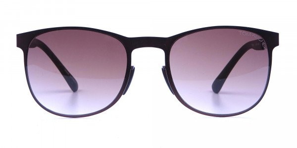 Brown and bronze sunglasses in Round Metal Frame-1