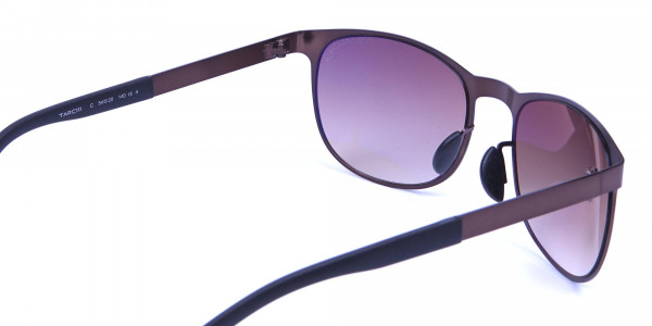 Brown and bronze sunglasses in Round Metal Frame