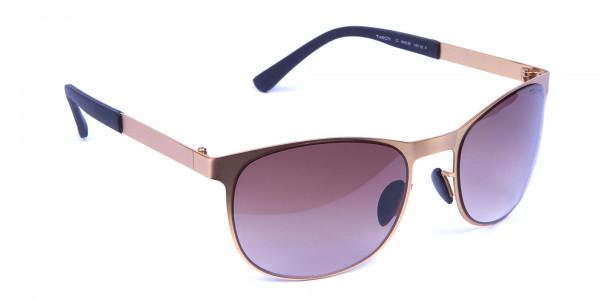 Gold Circular Sunglasses -1