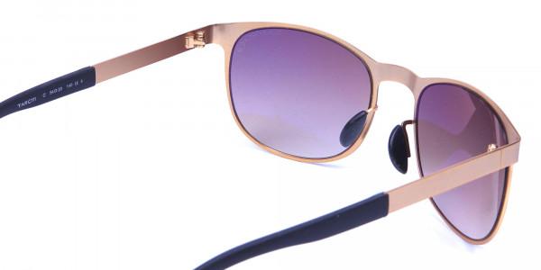 Gold Circular Sunglasses -4