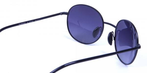 Black & Grey Sunglasses Round Frame -4
