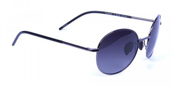 Gunmetal Sunglasses for Narrow Faces -1