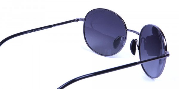 Gunmetal Sunglasses for Narrow Faces - 4