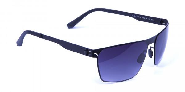 Sleek Bold Black Rectangular Sunglasses -1