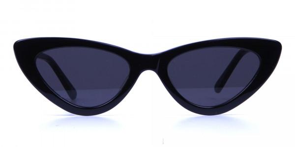 Black Narrow Cat-Eye Sunglasses