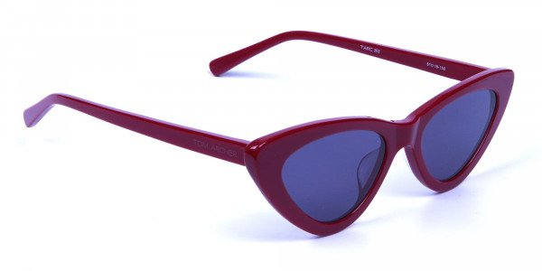 Small Frame Red Cat-Eye Sunglasses  -1