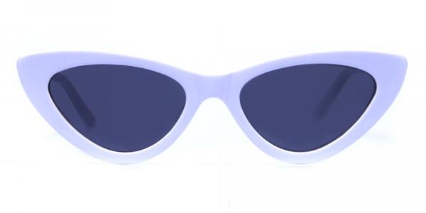white round cat-eye sunglasses