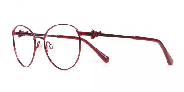 Ted Baker TB2243 Elvie Classic Round Glasses Burgundy Women-3