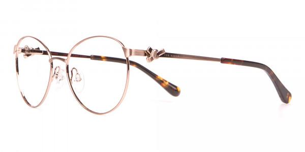 Ted Baker TB2243 Elvie Gold Round Metal Glasses Women-3