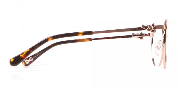 Ted Baker TB2243 Elvie Gold Round Metal Glasses Women-4