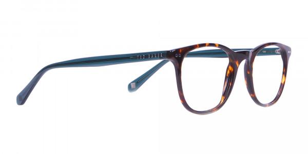 TED BAKER TB8120 Denny Round Glasses Tortoise & Teal-2