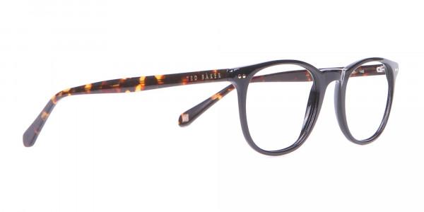 TED BAKER TB8120 Denny Round Glasses Black & Tortoise-2