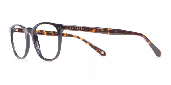 TED BAKER TB8120 Denny Round Glasses Black & Tortoise-3