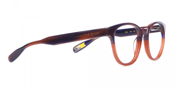 TED BAKER TB8197 Cade Glasses Classic Round Blue Brown-2