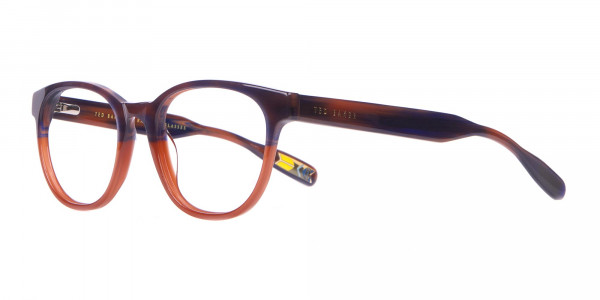TED BAKER TB8197 Cade Glasses Classic Round Blue Brown-3