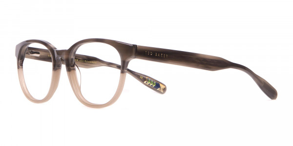 TED BAKER TB8197 Cade Glasses Classic Round in Grey Horn-3