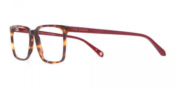 TED BAKER TB8209 ROWE Rectangular Glasses Red & Tortoise-3