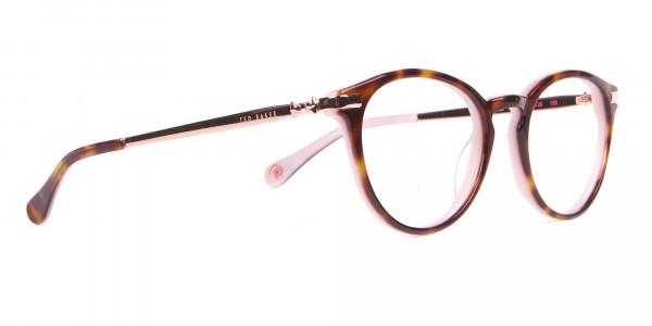 Ted Baker TB9132 Val Women Pink & Tortoise Round Glasses-2